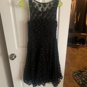 XOXO Black Polka Dot lace dress